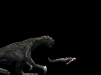 Regina defeated by Therizinosaurus