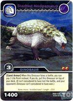 Nodosaurus-Startled TCG Card 1-Silver