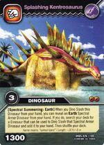 Kentrosaurus-Splashing TCG Card