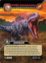 Giganotosaurus-Wildfire TCG Card