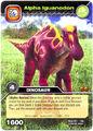 Iguanodon Alpha TCG Card