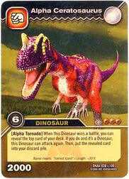 Ceratosaurus Alpha TCG Card