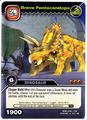 Pentaceratops-Brave TCG Card 1-Silver 1a