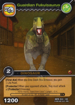 Fukuisaurus-Guardian TCG Card 1-Gold