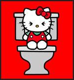 Hello kitty toilet