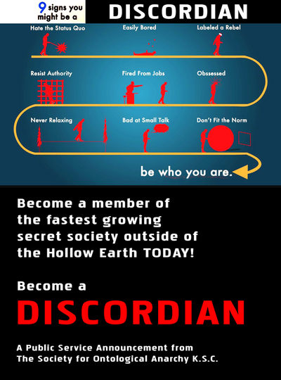 Be a Discordian - Recriutment Poster-SM
