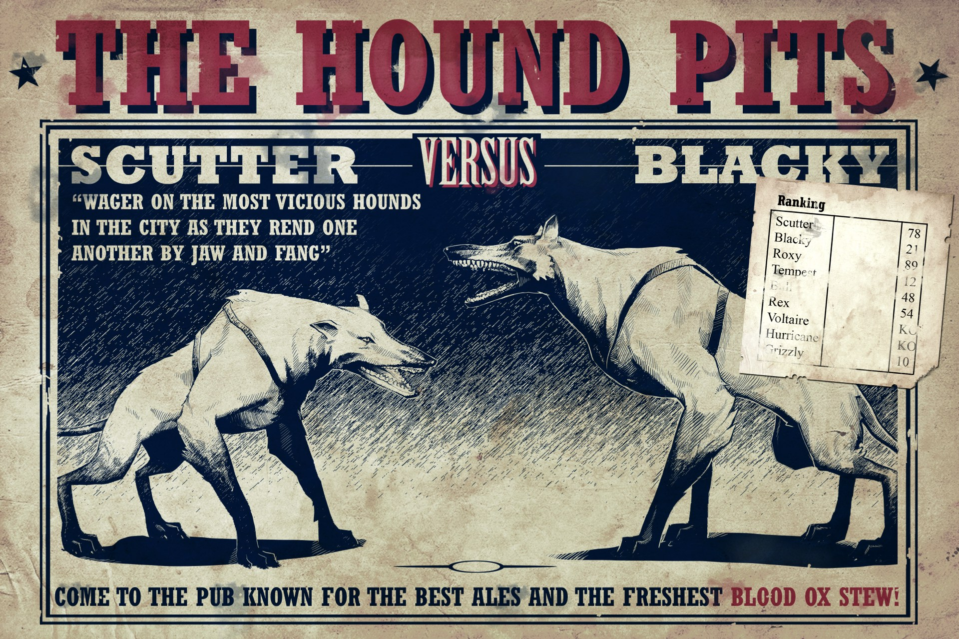Image Poster Hound Pits Jpg Dishonored Wiki Fandom