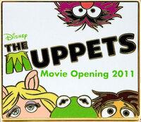 Disney pin muppets movie opening 2011
