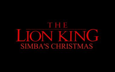 The Lion King Simba Christmas logo