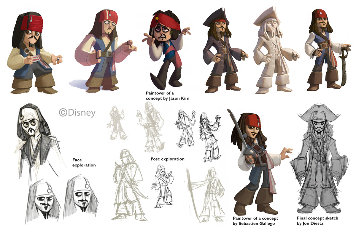 Disney Character Design Artists : Image snielson infinity jack sparrow evolution eg