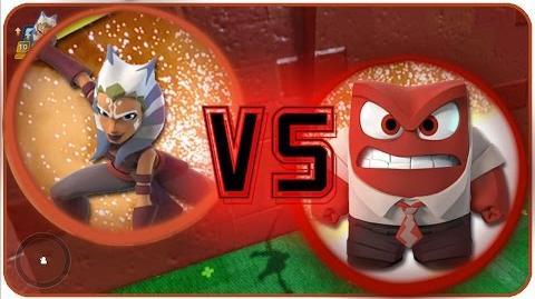 "Ahsoka vs Anger - Disney Infinity 3.0 Battles - ""Disney Battles In 5 Minutes OR Less!"""