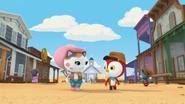 S1e18a Callie and Peck walking through town
