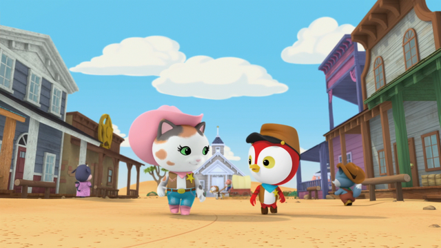 File:S1e18a Callie and Peck walking through town.png
