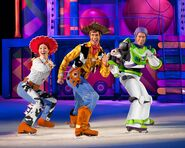 Disney on ice toy story 3 Jesse, Woody, and Buzz