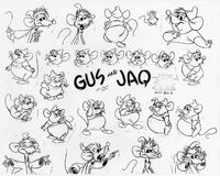 Jaq and Gus model sheet