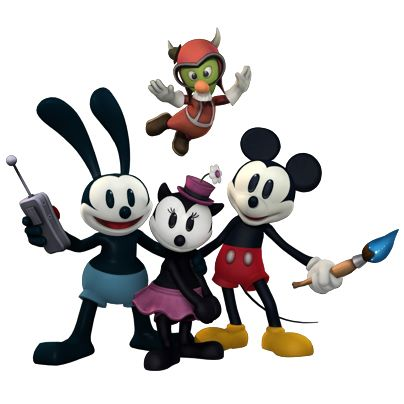 File:Ortensia Oswald gus and mickey Disney Epic Mickey 2.jpg