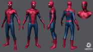 Spider-Man Costume in 3-D