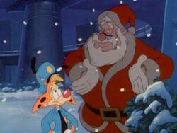 Santa with Bonkers