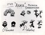 Model sheet 350-8019 flower suggestions pansies daisies blog