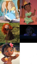 4 Disney Princesses as Kids