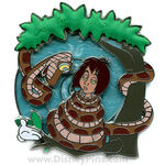 Kaa & Mowgli Limited Edition White Glove pin.