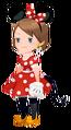 Minnie Mouse Costume Kingdom Hearts χ