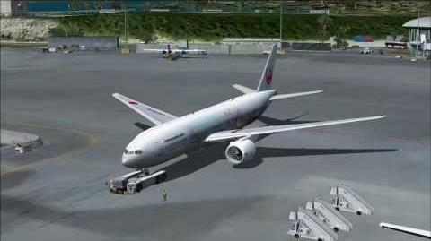 "Flight Simulator X JAL""ハピネスエクスプレス"" ""Happiness Express"" Boeing 777-246"