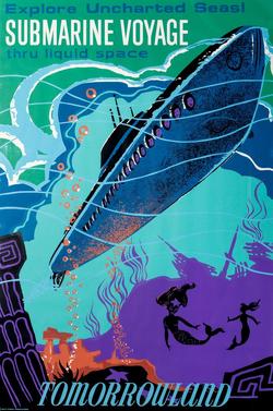 Disneyland Submarine Voyage Poster