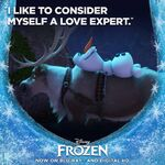 Frozen I Like to Consider Myself a Love Expert Promotion