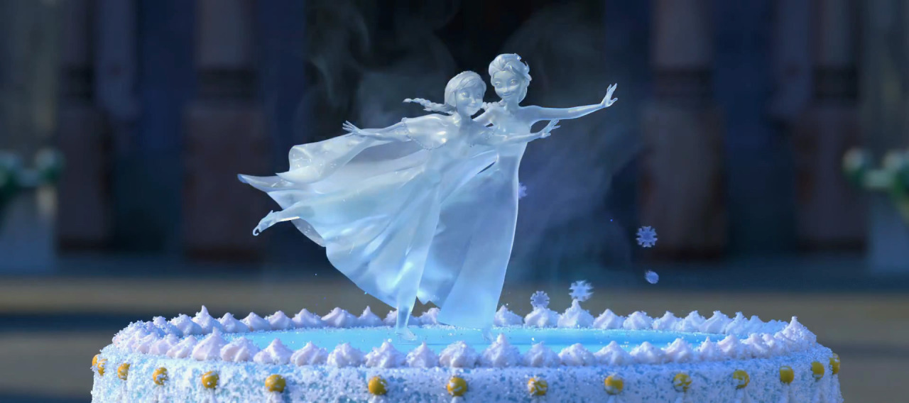 Image result for ice sculptures on top of cake in frozen fever