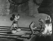 Mickey and fireplace