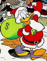Scrooge as Santa