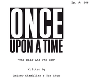 Once Upon a Time - 5x06 - The Bear and the Bow - Script Cover