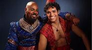 Genie and Aladdin on Aladdin the Broadway Musical 1