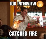 Very bad day job interview catches fire