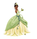 Tiana with frog