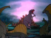 Tyrannosaurus killed the Stegosaurus