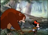 Bear pursuing mickey