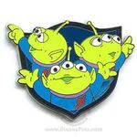 3 Little Green Men Pin