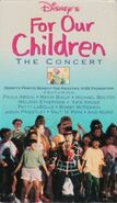 Disney's For Our Children - 1993 TV Special - VHS Cover