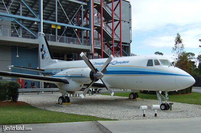 File:Walt Disney's plane at SBT.jpg