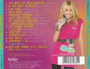 Best of Hannah Montana CD Back Cover