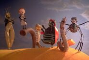 James-and-the-Giant-Peach-Ladybug-Earthworm-Centipede-Grasshopper-Spider