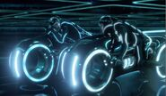 Lightcycles in Tron Legacy