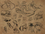 Glen keane the little mermaid concepts