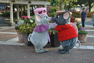 Bianca and Bernard At Disney