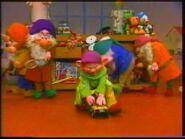 Seven dwarfs at santa's workshop