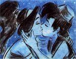 Aladdin and Jasmine Storyboard Kiss