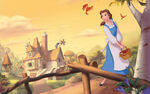 Disney Princess Belle's Story Illustraition 2