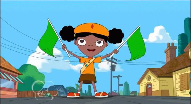File:Holly starting the Tour de Ferb race.JPG